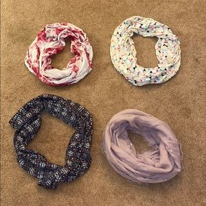 Accessories - Patterned Infinity Scarves Set